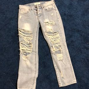 Distressed PacSun mom jeans